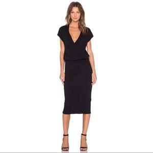 James Perse Noir Blouson Drape Dress NWOT 0